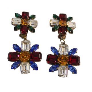 Bespoke Rare Vintage Crystal Earrings by Marangoni Milan