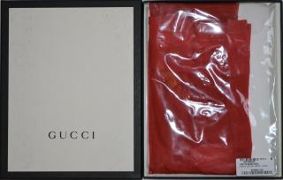 Gucci runway red tights