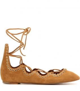 Isabel Marant Suede Ballerina Lace-up Flats