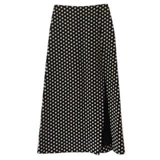 Armani Black & white Polka-Dot Print Maxi Skirt