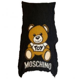 Moschino Toy wool & silk-blend scarf