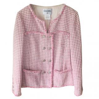 Chanel pink tweed jacket