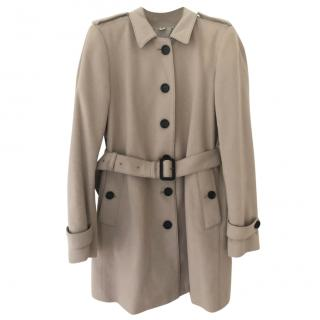 Burberry wool & nylon belted coat