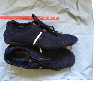 Prada Men's Suede Trainers - size7.
