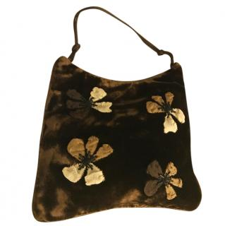 Prada Velvet and Silk Embroidered Bag