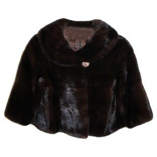 Saga Mink Fur Bolero Shrug Jacket