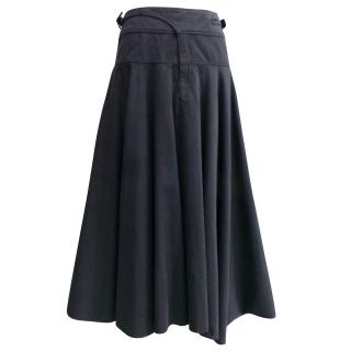 Nicole Farhi navy cotton skirt