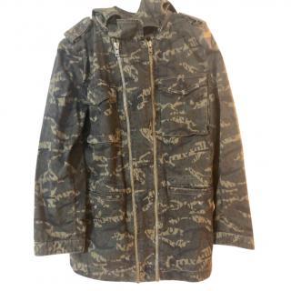 The Kooples Camo Double Zip Jacket