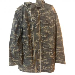 The Kooples Camo Double Zip Jacket