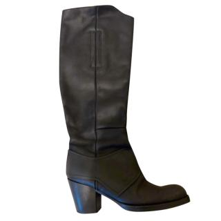 Acne Studios Knee High Black Pistol Boots