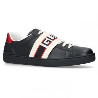 Gucci Mens Elastic Ace Trainers