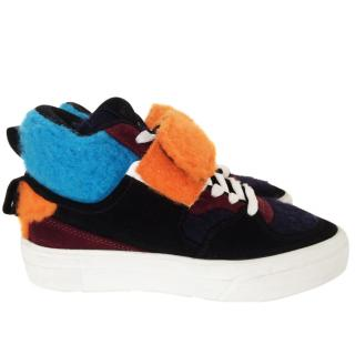 MSGM textured sneakers