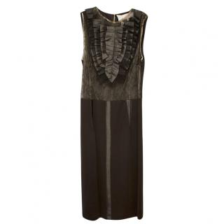 Elisabetta Franchi ruffle sleeveless dress