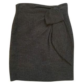 Emporio Armani wool bow mini skirt