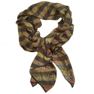 Fendi large silk-chiffon scarf