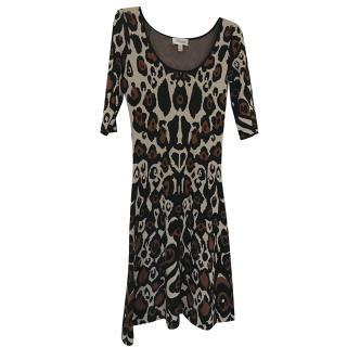Temperley London scoop-neck leopard dress