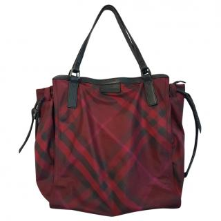 Burberry Supernova burgundy limited edition tote bag