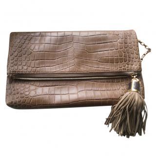 Michael Kors crocodile-effect leather clutch