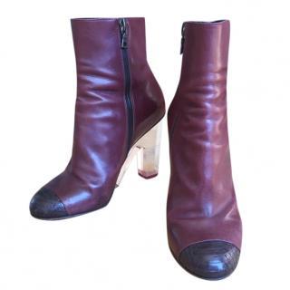 Dries Van Noten plexi-heel ankle boots