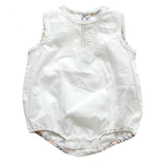 Burberry Cotton Baby Bodysuit