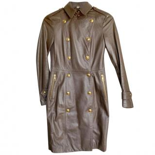 Burberry Classic Leather Trench Coat