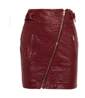 Isabel Marant Breezy Faux Leather Mini Skirt