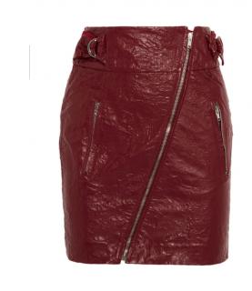 Isabel Marant Breezy Faux Leather Mini Skirt
