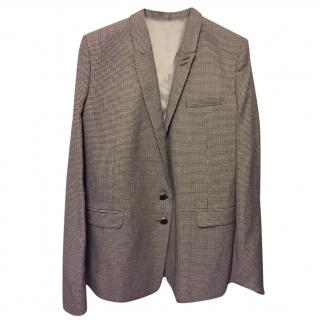 The Kooples hound's-tooth wool-blend blazer