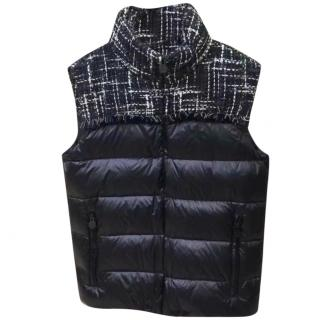Chanel tweed & nylon-blend quilted gilet