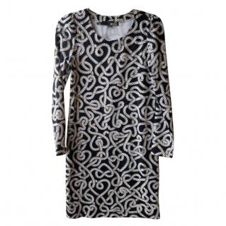 Love Moschino knot-print dress
