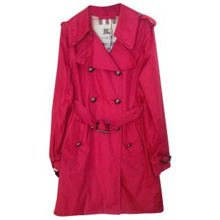 Burberry belted nylon trench coat