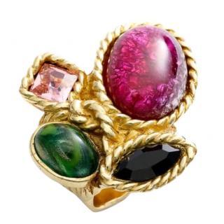 Yves Saint Laurent Arty Cluster Embellished Ring