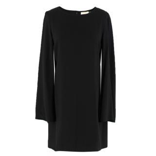 Ramy Brook black cape-sleeved shift dress