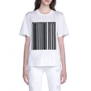 Alexander Wang Barcode-Print Short-Sleeeved T-shirt