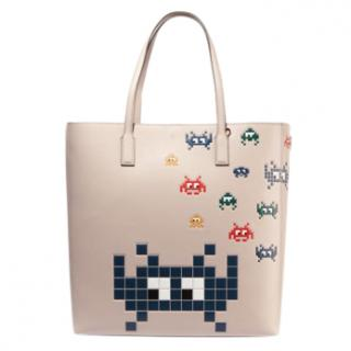 Anya Hindmarch Ebury Space Invaders Leather Tote
