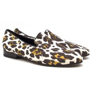 Cecilia De Bringhelii leopard-jacquard loafers