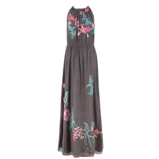 Anita Dongre Grassroot Embroidered Khaki Dress