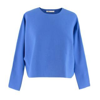 Maje blue long-sleeved sweater