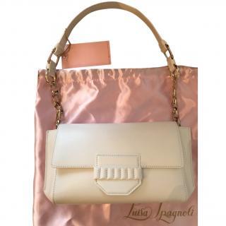 Luisa Spagnoli white leather shoulder bag