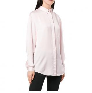 Off-White c/o light-pink satin shirt