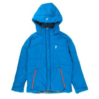 PeakPerformance kids blue padded ski jacket