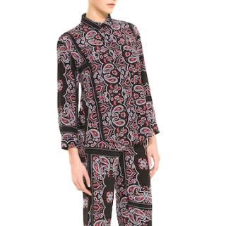 Sandro Pashmina-Print Silk Paisley Shirt