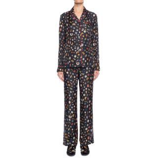 Alexander McQueen Obsession-Print Silk Pyjamas