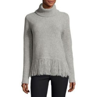 Michael Michael Kors Fringed-Hem Roll-Neck Sweater