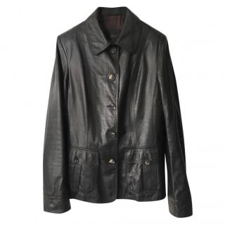Bally brown lambs leather jacket