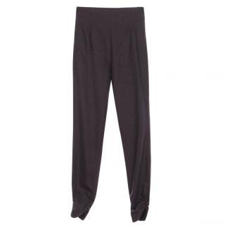 Fabiana Filippi  High Waist Wool/Cashmere Stretch Slim Trousers