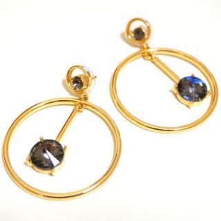 Oscar de la Renta hoop-drop embellished earrings