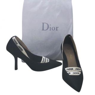 Christian Dior J'adior Ribbon Tweed Pumps