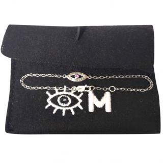 Ileana Makri Evil Eye Diamond & Ruby Bracelet