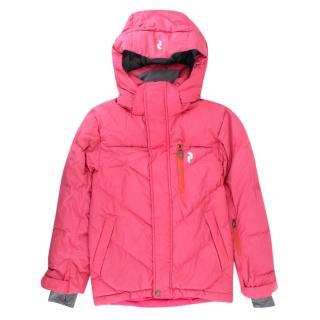 Peak Performance Girl's Pink Ski Jacket